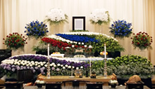 一般葬  生花祭壇
